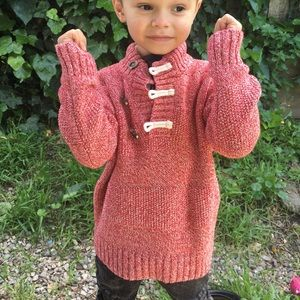 Other - Red Marled Sweater